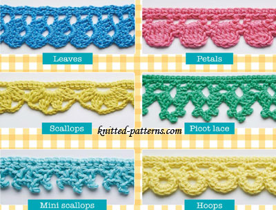 Knitted Edgings Patterns Free : Crochet edgings and trims free patterns