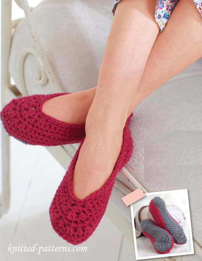 Crochet women\'s shoes and socks