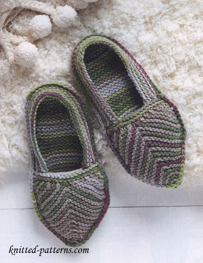 Knitting Slippers Free Pattern