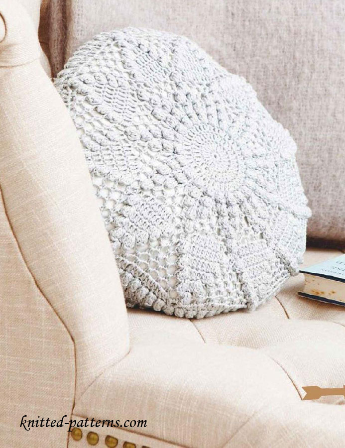 Crochet Stitch Yrh : Crochet circular cushion free pattern