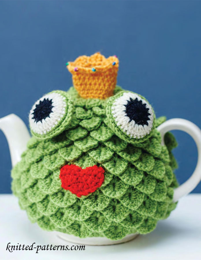 Tea cosy free crochet pattern for Tea cosy template
