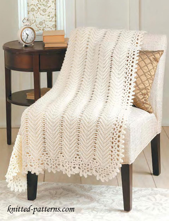 Free Knitted Afghan Patterns On Pinterest : Crochet afghans on Pinterest Afghans, Ripple Afghan and ...