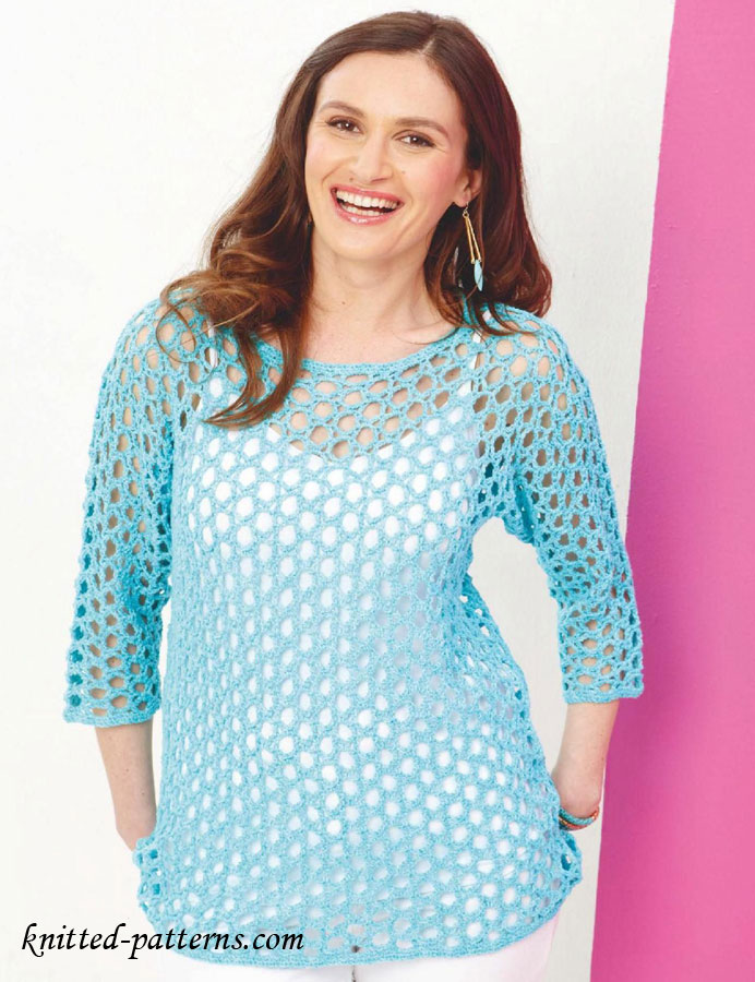 Free Knitting Patterns For Ladies Lace Tops : Knitting patterns