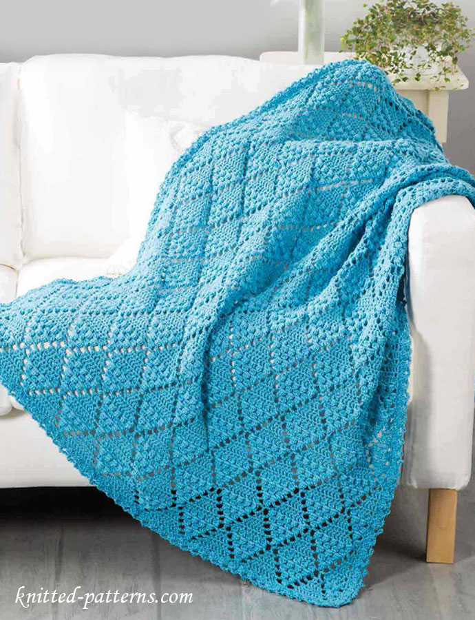 Free Crochet Patterns Childrens Blankets : Lace Throw Crochet Pattern Free
