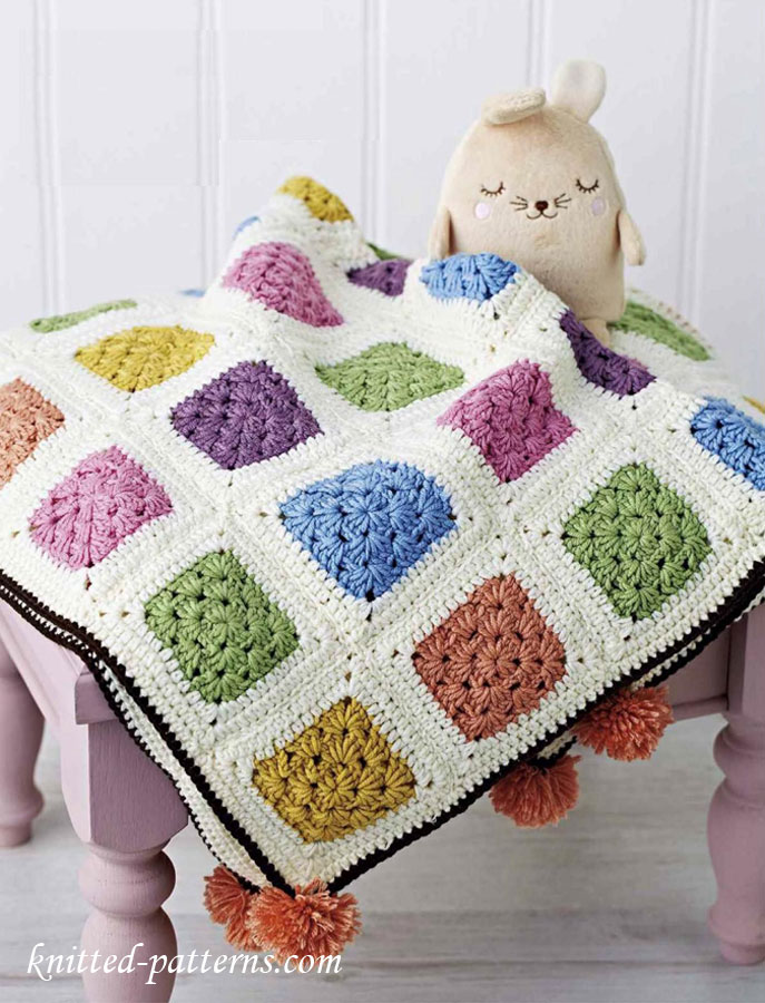 Knitting Ring Patterns : Baby cot blanket crochet pattern free
