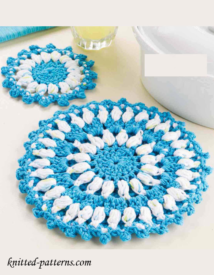 Crochet Patterns Hot Pads : Crochet Hot Pad & Coaster Free Patterns