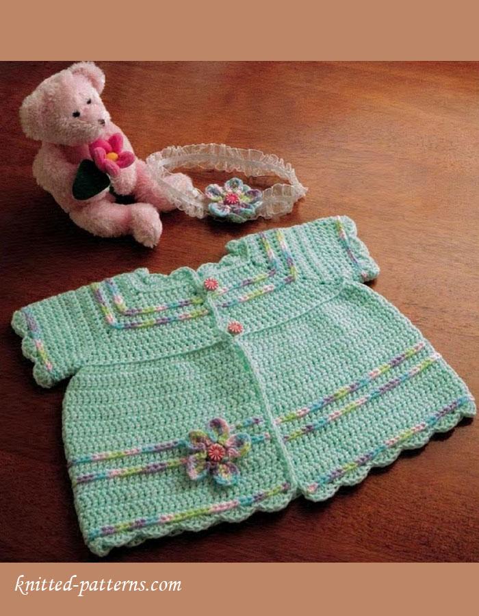 Free Crochet Baby Sacque