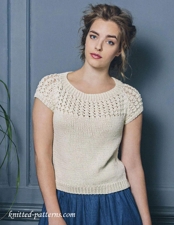 Knit Top Patterns : Summer top free knitting pattern