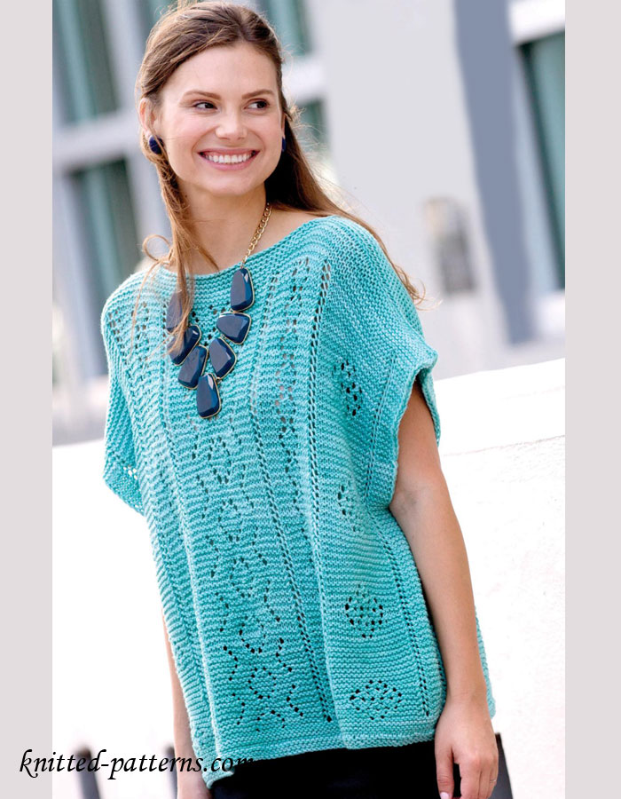 Summer Sweater Knitting Patterns : Summer pullover knitting pattern free
