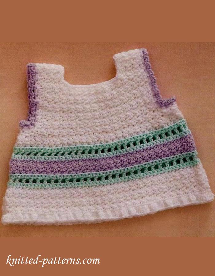 Baby top crochet free pattern
