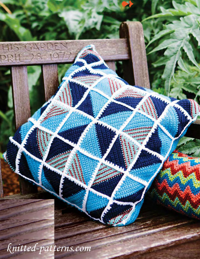 Square Cushion Crochet Free Pattern