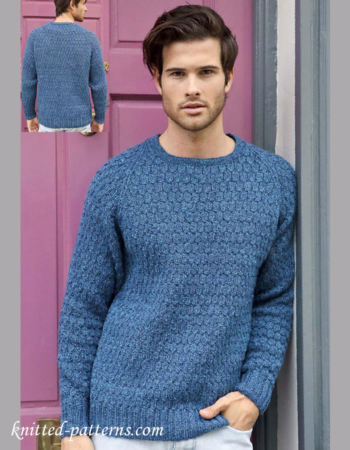 Free Knitting Pattern Mens Chunky Jumper : Mens pullovers and sweaters knitting patterns