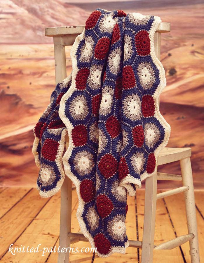 Crochet Motif Blanket Pattern Free