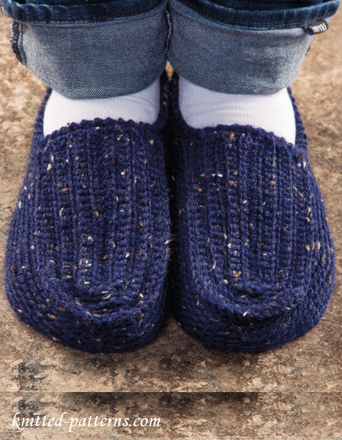 Mens Slippers Knitting Pattern : Mens Slippers Crochet Pattern Free