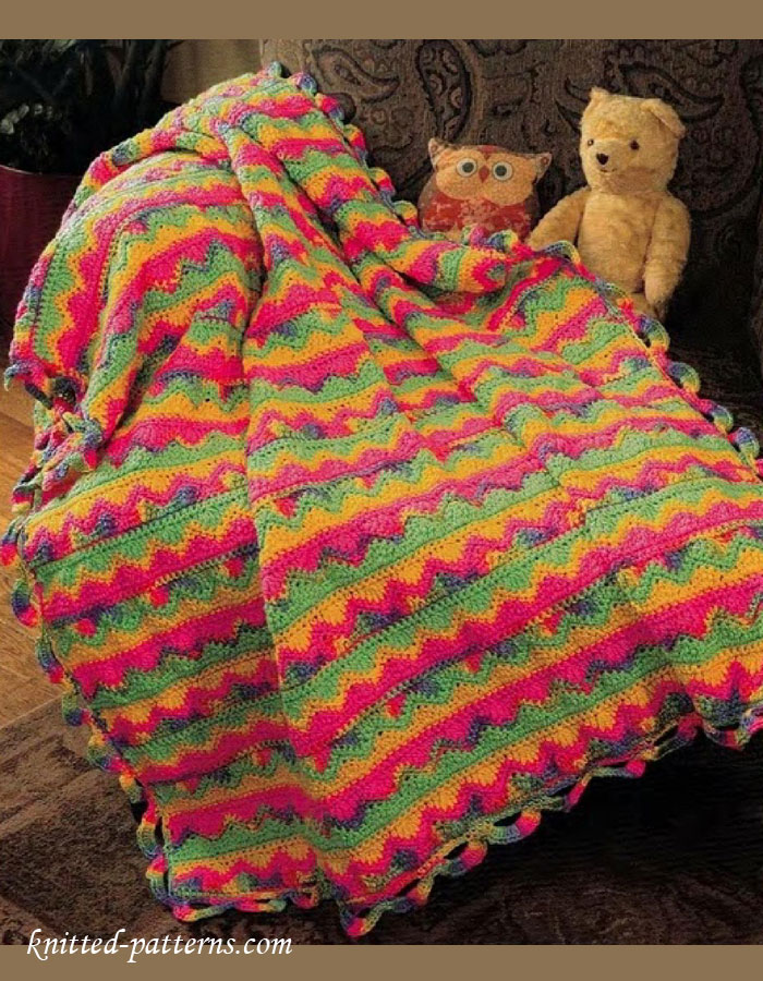 Children s Blanket Pattern Knitting : Crochet kids blanket pattern free