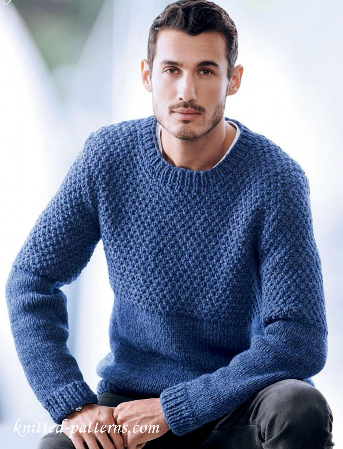 Free Mens Cable Knit Sweater Patterns : Mens sweater knitting pattern free