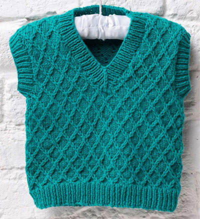 Free Knitting Pattern For Toddlers Tank Top : Baby tank top knitting pattern free