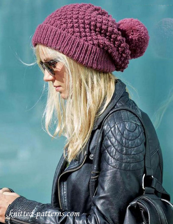 Women\'s beanie knitting pattern free