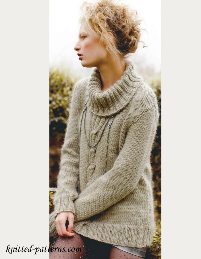 Ladies Knitting Patterns : Knitted Womens Jumper Patterns - Long Sweater Jacket