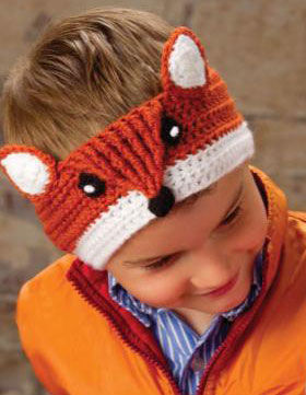 Free Crochet Patterns Childrens Animal Hats : Fox headband crochet pattern free