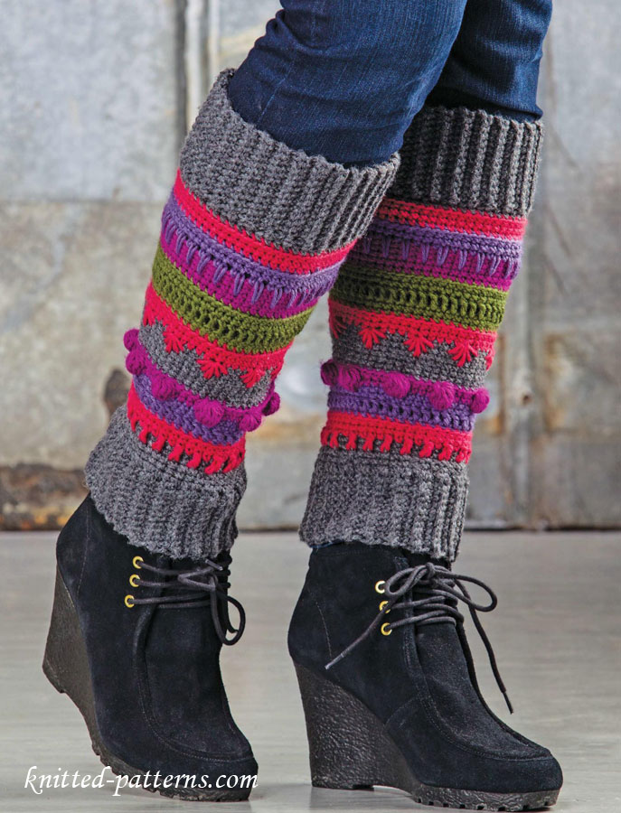 Free Knitting Patterns Leg Warmer Socks : Girl leg warmers crochet pattern free