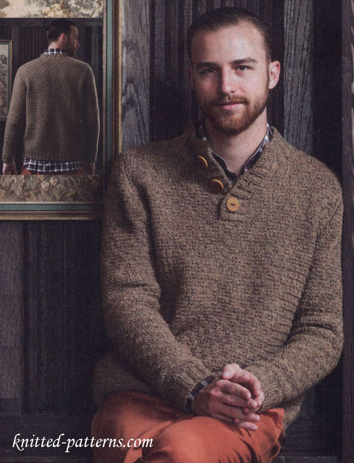 Knitting Pattern For Mens Poncho : Mens knitting pullover pattern free