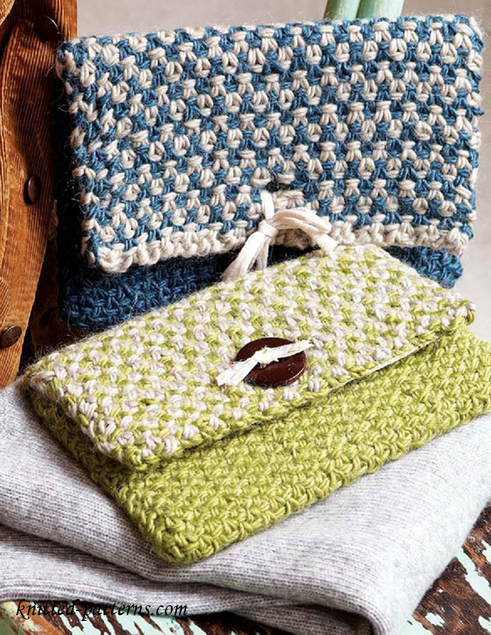 Knitted Clutch Pattern : Felted Items. Patterns preceded by not to Knitting Pattern Central ...