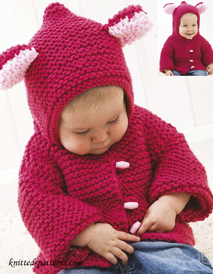 Free Knitting Patterns For Girls Jackets : Baby jacket knitting pattern free