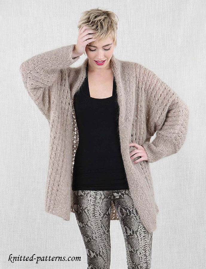Free Knitting Patterns Ladies : Free Knitting Pattern Womens Cosy Jacket