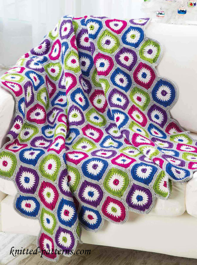 Motif Afghan Crochet Pattern Free