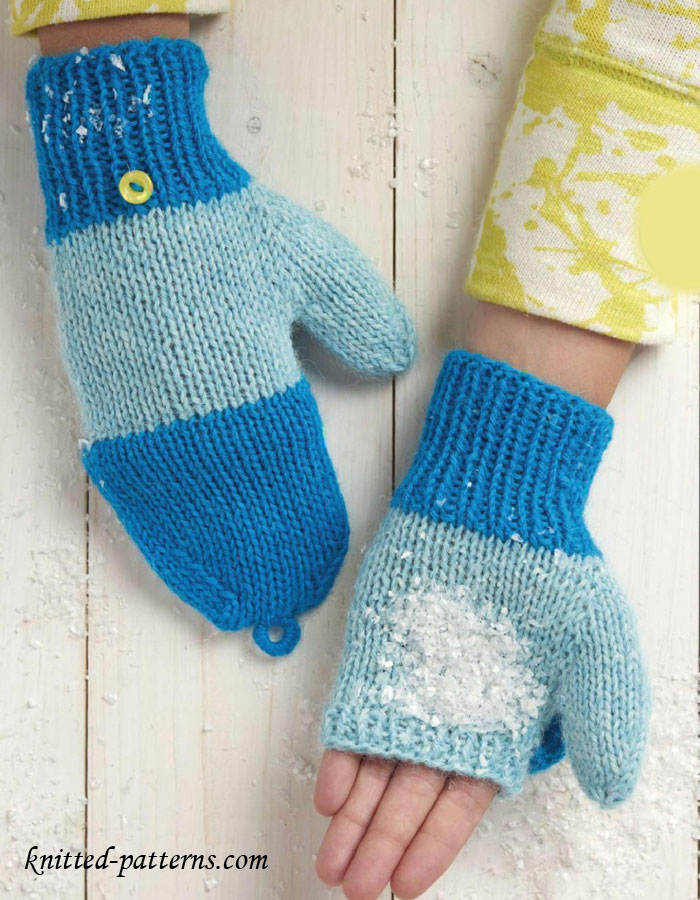 Free Knitting Patterns For Mittens In The Round : Knitting mittens pattern free