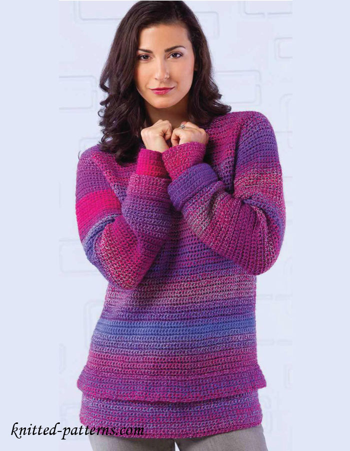 Women\'s pullover crochet pattern free