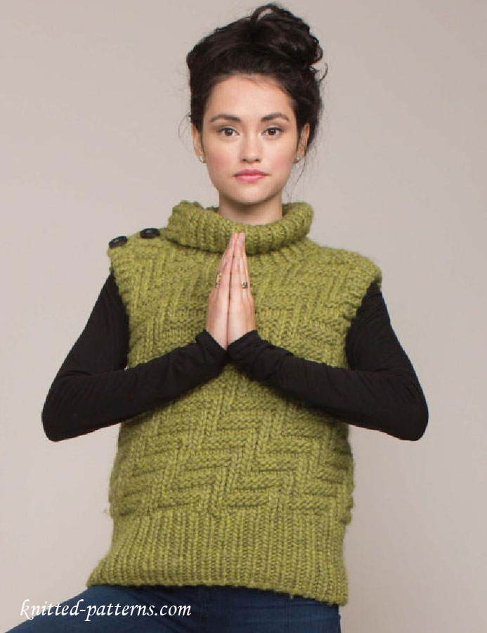 Vest Knitting Pattern Free : Womens vest knitting pattern free