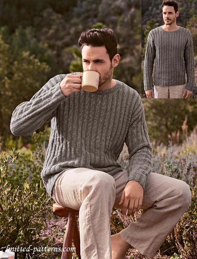 cf0ceb8f5 Round neck sweater knitting pattern free