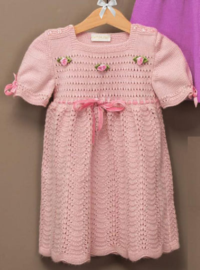 Baby girl dress knitting pattern free