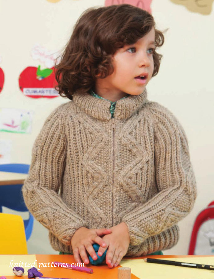 Boys Raglan Jacket Knitting Pattern Free