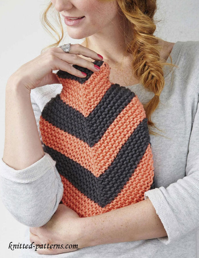 Chunky Knit Scarves Patterns : Hot water bottle cover knitting pattern free