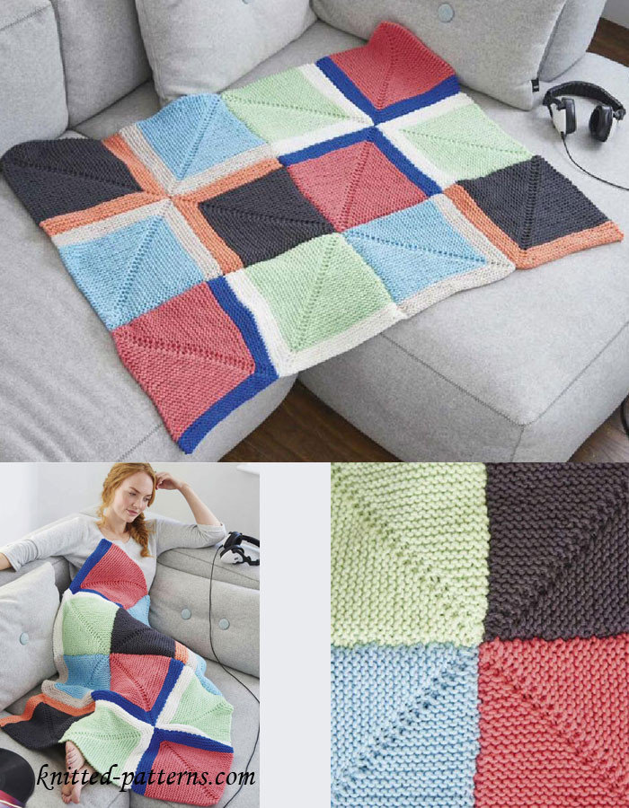 Beautiful Knitted Squares Free Patterns Embellishment - Knitting ...