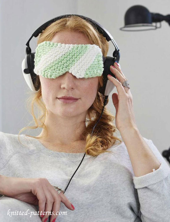 Eye mask knitting pattern free