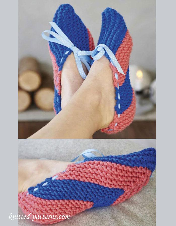 Knitting Pattern Women s Socks : Womens slippers knitting pattern free