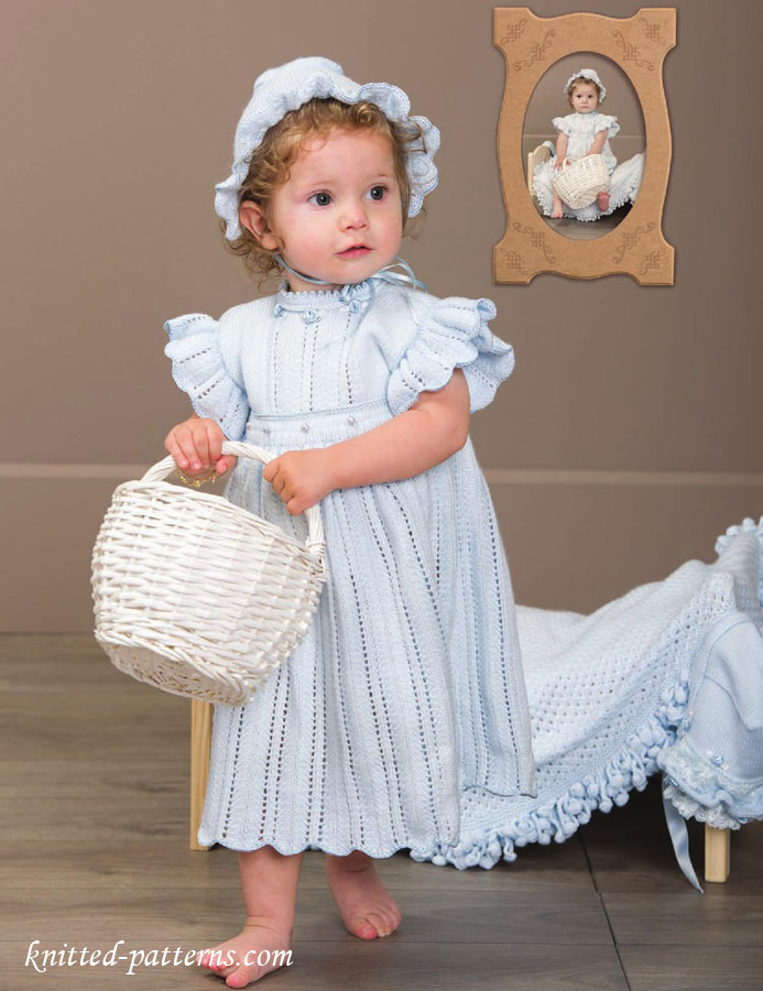 Knitting Pattern Child Dress : Dress and bonnet knitting pattern free