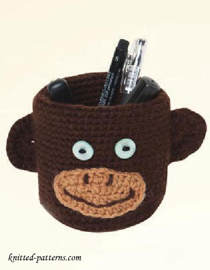 Pencil holder crochet pattern free