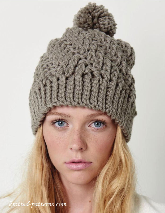 Free Crochet Pattern For Winter Hat : Crochet winter hat pattern free