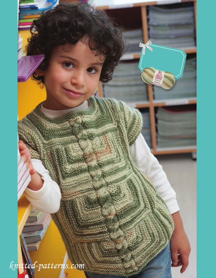 Knitting Pattern Vest Child : Boys vest knitting pattern free
