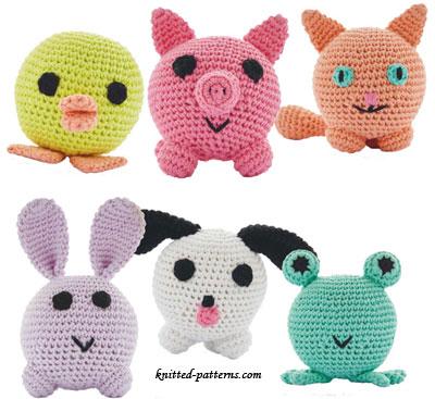 Knitted Amigurumi Animal Patterns : Amigurumi animals crochet patterns free