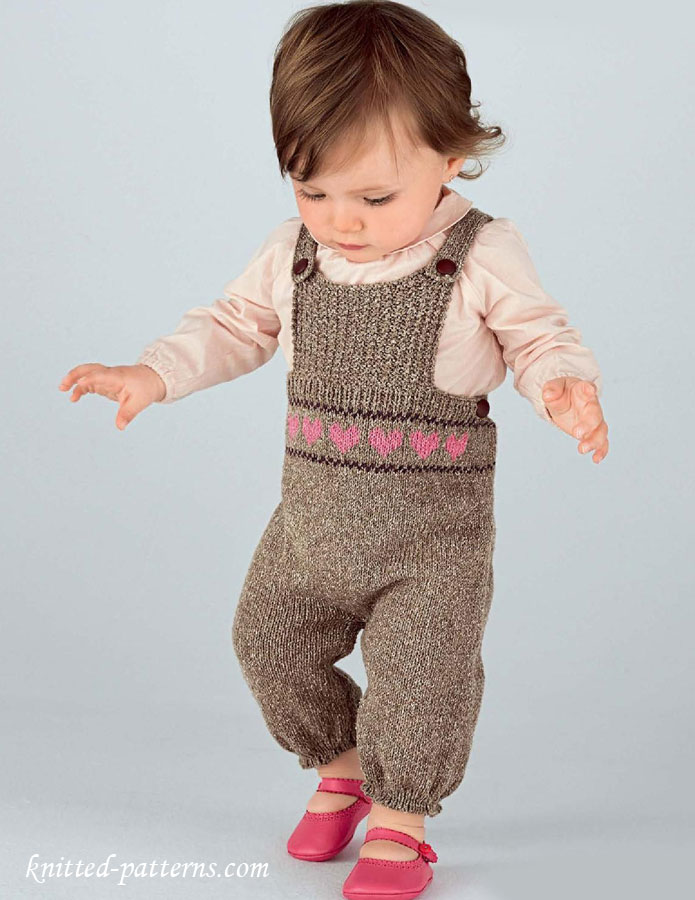 Baby Boy Dungarees Knitting Pattern : Baby dungarees knitting pattern free