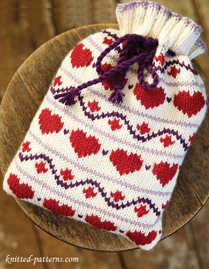 Free Knitting Pattern For Small Hot Water Bottle Cover : Knitting hot water bottle cover pattern free
