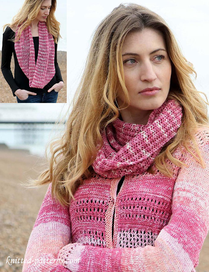 Knitting Pattern For Lace Snood : Lace snood knitting pattern free