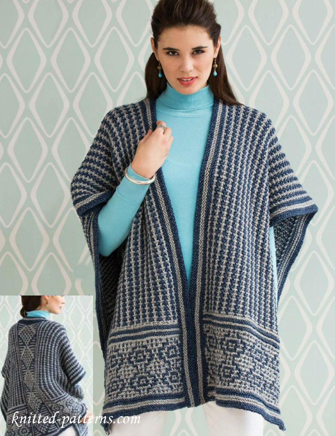 Poncho Knitting Pattern Free