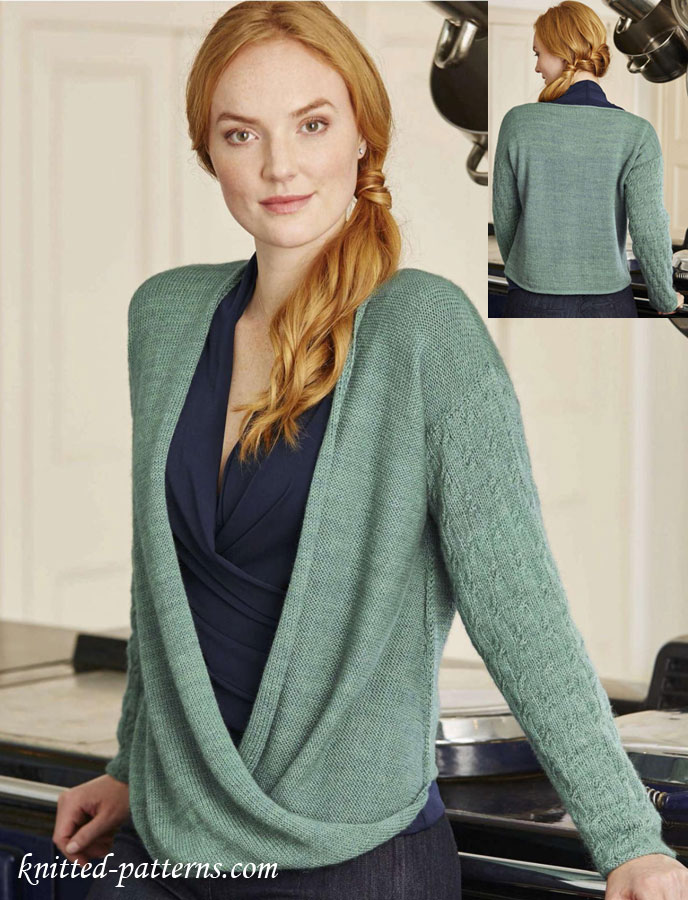 Free women\'s pullovers knitting patterns
